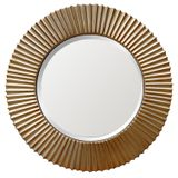 Round Gold Ribbed Mirror 1150mm