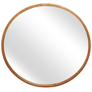 Metal Framed Mirrors: Round Metal Gold Coloured Mirror 800mm dia