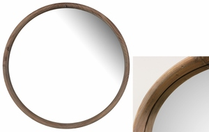 Wooden Framed Mirrors: Round Wood Framed Mirror (two sizes)