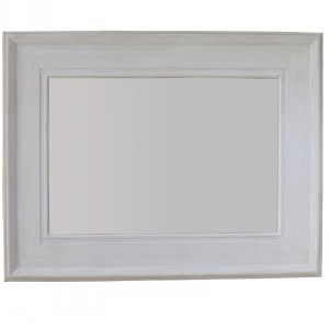 Other Framed Mirrors: Stone White Framed Mirror 1230x930mm
