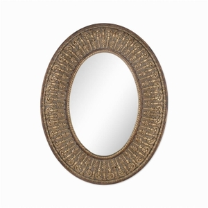 Gold Framed Mirrors: Gold Ornate Oval 700x900mm