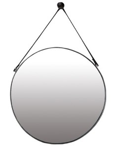 Metal Framed Mirrors: Round Metal Strap Mirror 850mm dia