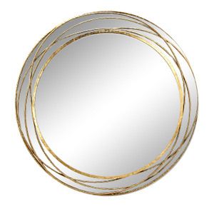 Gold Framed Mirrors: Round Gold Swirl Mirror 900mm dia