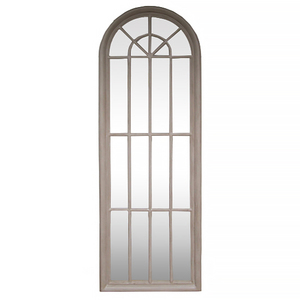 Wooden Framed Mirrors: Tall Arch Window Mirror 610X1780MM
