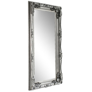 Silver Framed Mirrors: Silver or White Ornate Mirror 1760x900mm (2 colours)