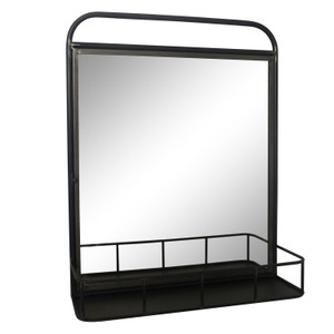 Metal Framed Mirrors: Metal Shelf Mirror 500x620mm