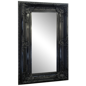 Other Framed Mirrors: Large Black Ornate Mirror 2150x1140mm
