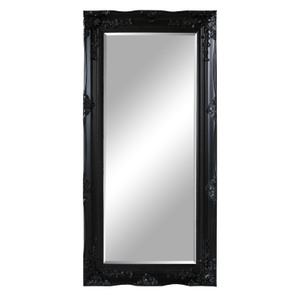 Traditional Dress Mirrors: Large Black Ornate Mirror 840x1740mm