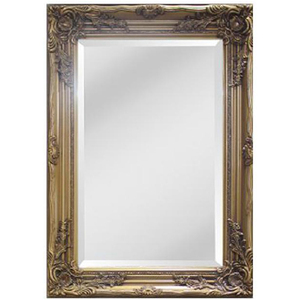 Gold Framed Mirrors: Gold Ornate Mirror 1090x780mm