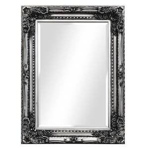 Silver Framed Mirrors: Silver Ornate Mirror 1200x900mm