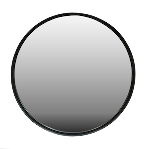 Metal Framed Mirrors: Round Thin Black Metal Mirror (2 sizes)