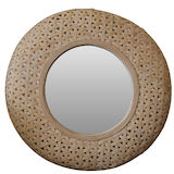 Round Bamboo Weave Mirror 700mm dia