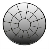 Round Black Metal Window mirror 950mm dia