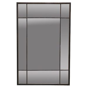 Metal Framed Mirrors: Black metal Window Mirror 900x1400mm