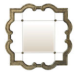 Square Curve Scroll Mirror 910x910mm