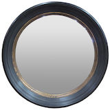 Black/Gold Round Mirror 840mm dia