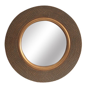 Gold Framed Mirrors: Round Gold Mirror 795mm dia