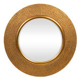 Round Gold Mirror 795mm dia
