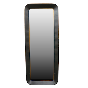 Contemporary Dress Mirrors: Grey/Gold Metal Dress Mirror 800x2000mm