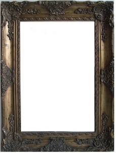 Gold Framed Mirrors: Antique Gold Ornate Mirror (2 sizes)