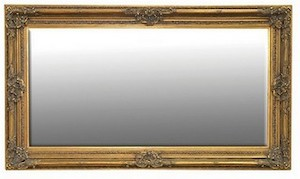 Gold Framed Mirrors: Large Ornate Gold Mirror 2170x1260mm