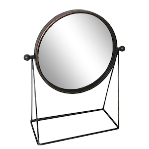 Table Top Mirrors: Round Standing Mirror 315x450mm