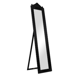 Freestanding Dress Mirrors: Black or White Ornate Dress Mirror 440x1680mm