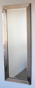 Dress Mirrors With Mirror Frames: Bronze Tint Incline Frame Dress Mirror 600x1600mm