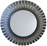 Round Grey/Black Metal Mirror 1390mm
