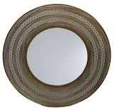 Round Gold Metal Mirror 900mm dia