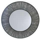 Round Black Metal Mirror 1000mm dia
