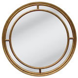 Round Gold Multipanel Mirror 1000mm
