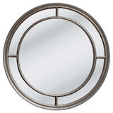 Round Silver Multipanel Mirror 1000mm