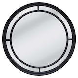 Round Black Multipanel Mirror 1000mm