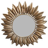 Round Gold Leaf Mirror 810mm