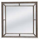 Square Silver Multipanel Mirror 1000mm