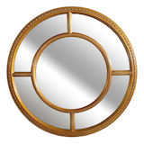 Round Gold Sectional Mirror 800mm