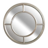 Round Silver Sectional Mirror 800mm