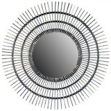 Round Black Rattan Mirror (3 sizes)