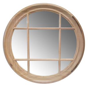 Wooden Framed Mirrors: Round Window Mirror 700mm