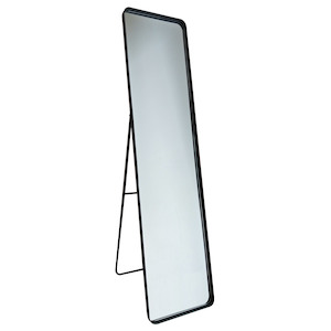 Freestanding Dress Mirrors: Black Metal Dress Mirror 360x1500mm